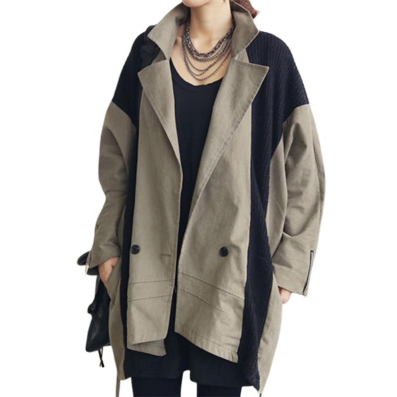 Autumn Hat Windbreaker Long Leisure Sleeve Cardigan Loose Coat Tide Shein Casacos Feminino Manteau Femme Moda Mujer Clothes