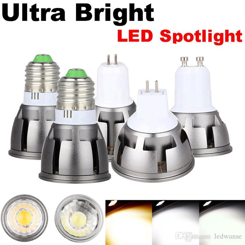 Ultra Bright LED COB Spotlight 6W 9W 12W GU10 GU5.3 85-265V MR16 12V LED Light Bulbs For Home Decor