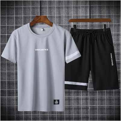 Mens trajes del deporte del verano de los casuales para hombre del diseñador de dos piezas Juvenil Moda Ropa de deporte 2020 Nuevo color sólido corto caliente Saleing
