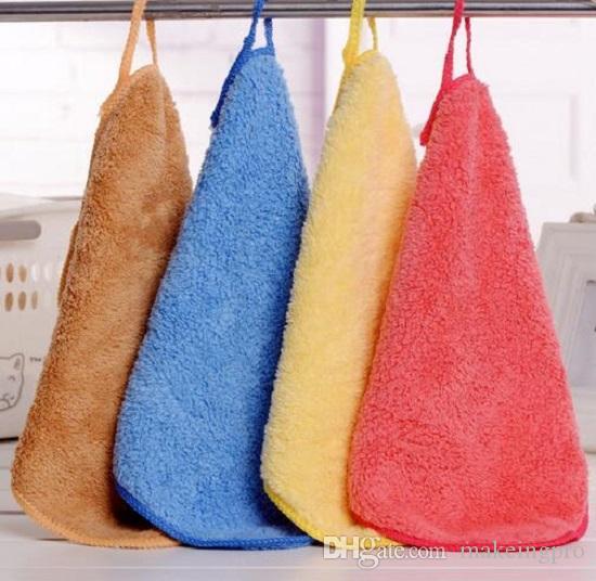 الأطفال منشفة صغيرة المرجان الصوف خرقة هوك تصميم المطبخ تنظيف خالية من الوبر تنظيف الجدول تنظيف خرقة الأطفال منشفة صغيرة