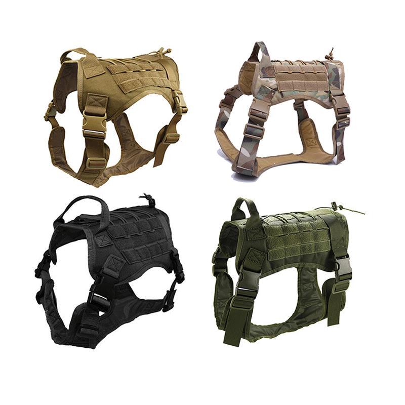 Outdoor Tactical Training camuffamento vestiti del cane 1050D nylon impermeabile maglia del cane di Moore sistema tattico di caccia di armatura