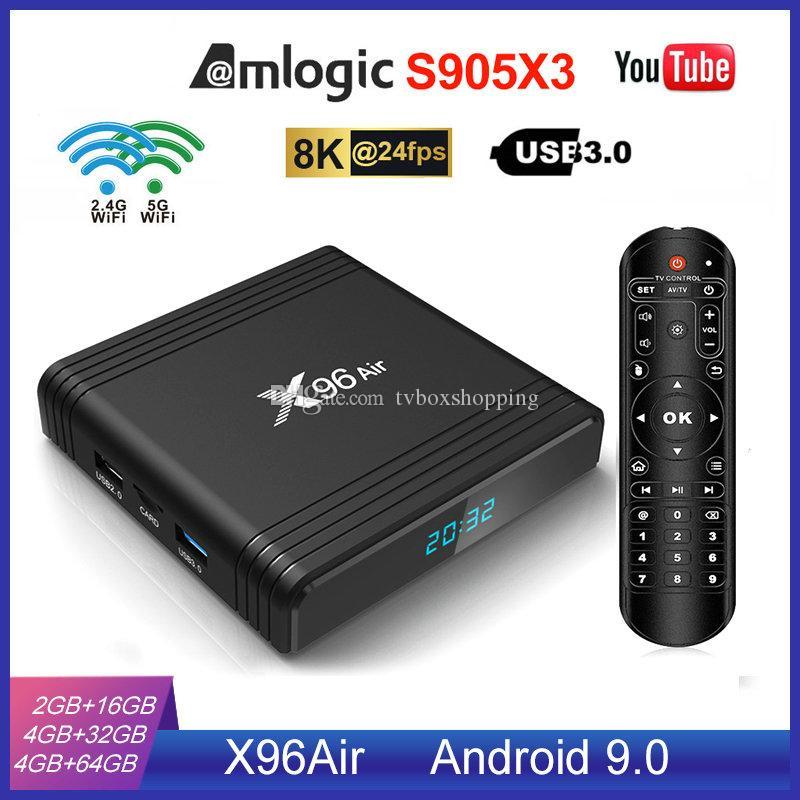 NEW X96 Air S905X3 Android 9.0 TV Box 4GB 32GB 2.4G+5.0G WIFI Better Than X96 Mini TX3 Mini