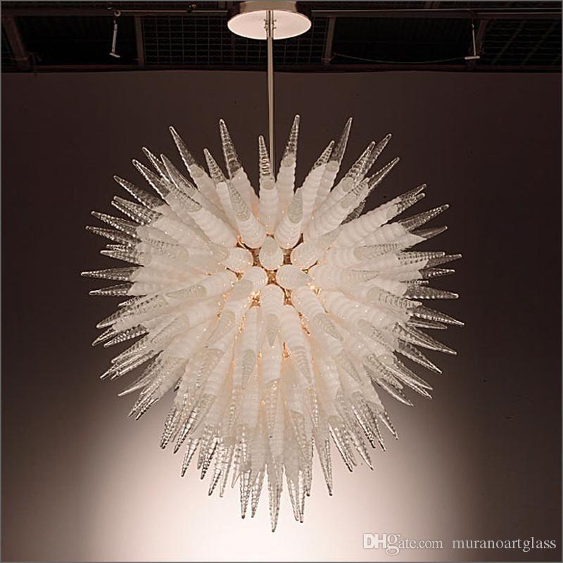 Produttore Zhongshan soffiato di Murano Lampadari di vetro Tiffany di stile 100% vetro soffiato a bocca con 110V-240V Lampadine a LED