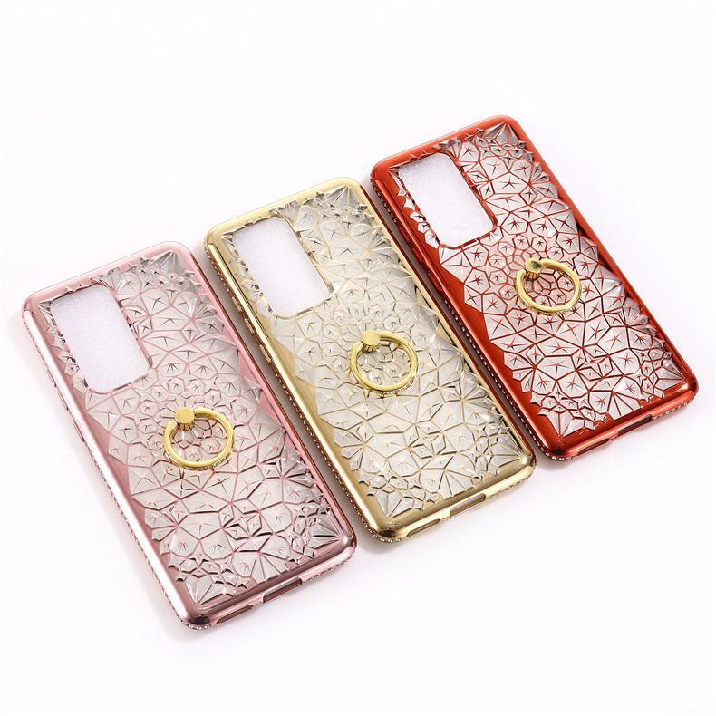 Bling Diamond 3D Мягкие TPU обратно Chinestone Чехол Кольцо Корпус для мобильного телефона для Huaweip40 P40 Pro P40 Lite P30 Mate20Pro Y5 2018