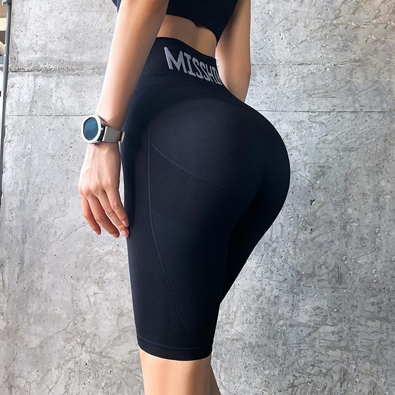 2020 Новый спорт шорты женщин высокой талией энергии Бесшовные шорты Push Up Hip Gym шорты