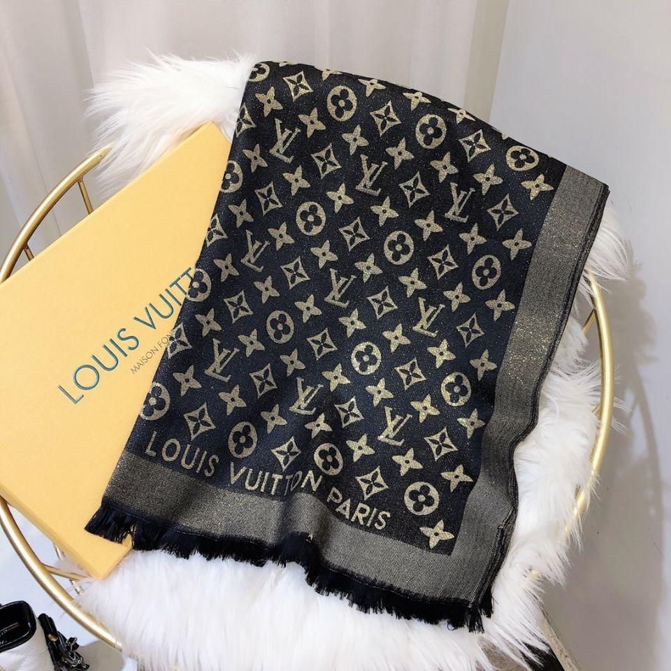 2019 high quality scarf fashion spring autumn men women scarf design bright gold thread yarn-dyed jacquard brand shawl 180*70cm