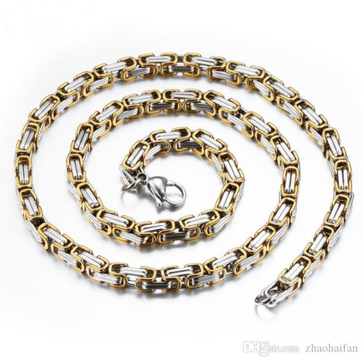 Colliers de la chaîne de style Punk Style Punk Mode Silver / or Plaqué d'en acier inoxydable en acier inoxydable Cadeau de bijoux pour homme GX329
