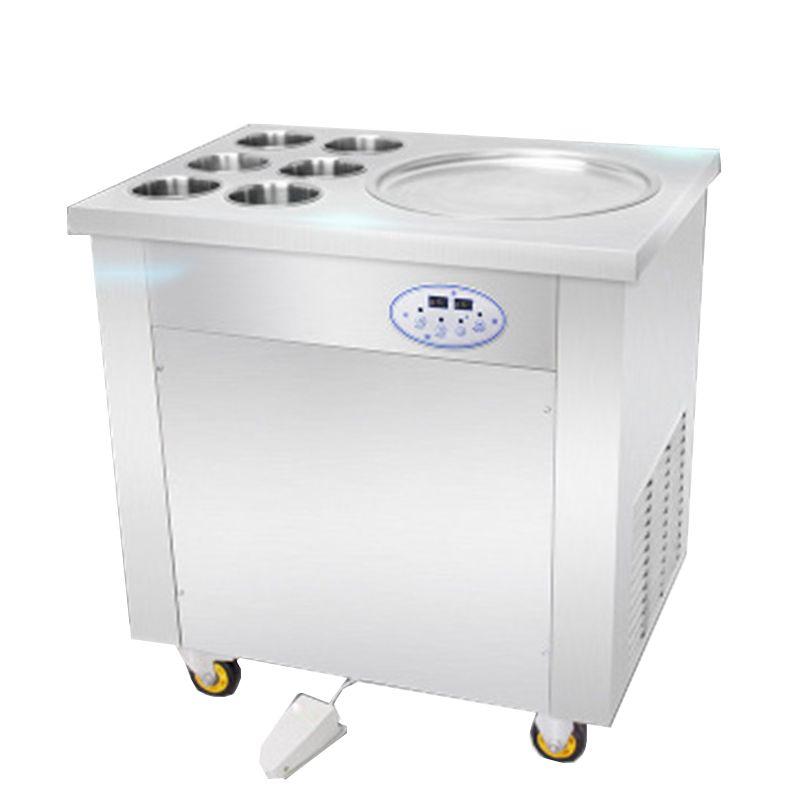 BEIJAMEI Máquina de rollo de yogur comercial de alta calidad 110 V 220 V Precio de máquina de helado frito enrollado de Filipinas
