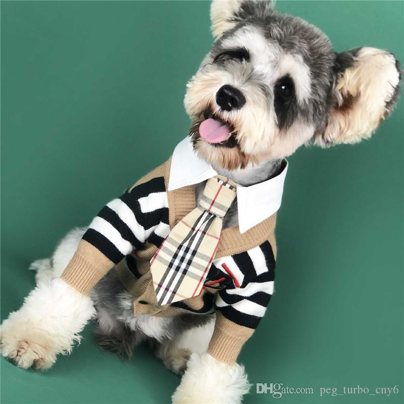 الكلب الشريط البلوز مع معطف التطريز رسالة أزياء الشتاء كلب في الهواء الطلق ملابس تيدي بلدغ أفطس الملابس