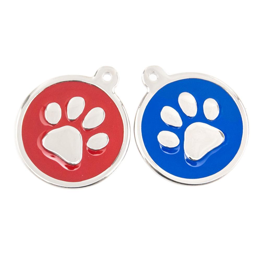Colorido Gato Cão Paw Print Encantos 20/30mm Pingentes Redondos de Aço Inoxidável Presente Da Jóia para o Amor Do Cão Por Atacado 20 pcs