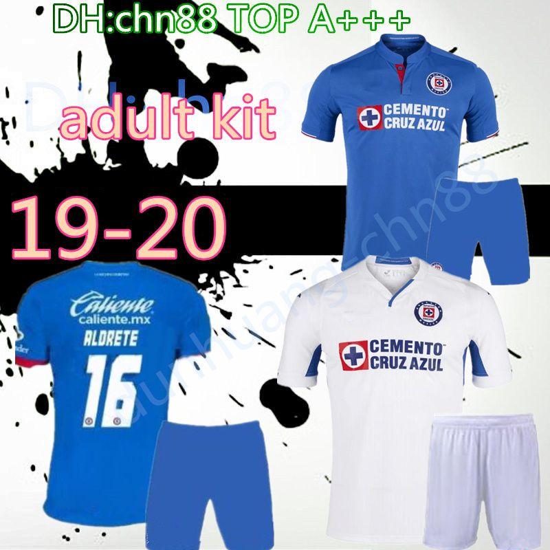 Yetişkin kiti 2019 2020 Meksika Kulübü Cruz Azul Liga MX Futbol Formalar 19 20 Cruz Azul adam kiti Ev Futbol Gömlek camisetas de futbol