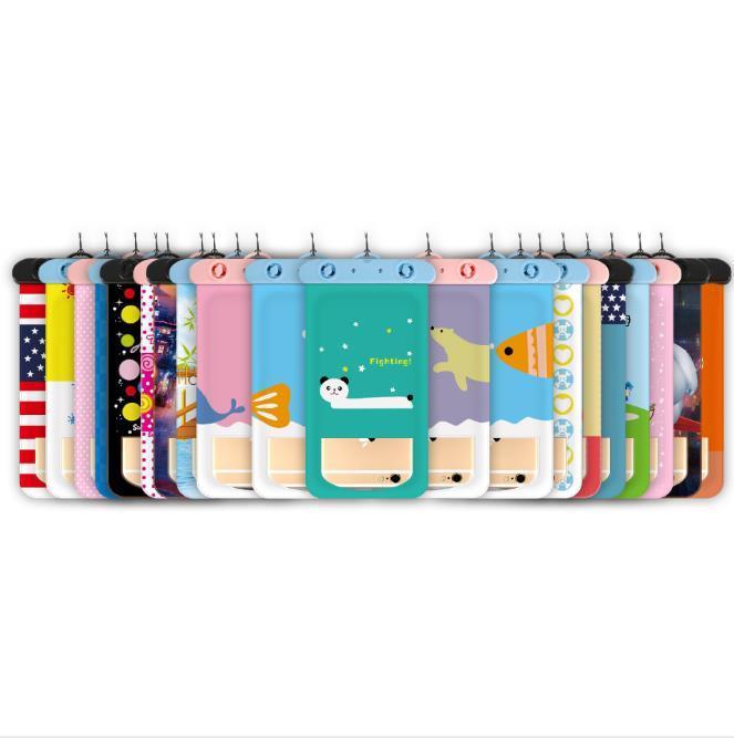 العالمي 6 بوصة ملونة حقائب العائم سباحة للماء لمس الهاتف حقيبة تحت الماء الحقيبة الهاتف للحصول على حالة لسامسونج غالاكسي S8 اوليمبياد الفيزياء الدولية