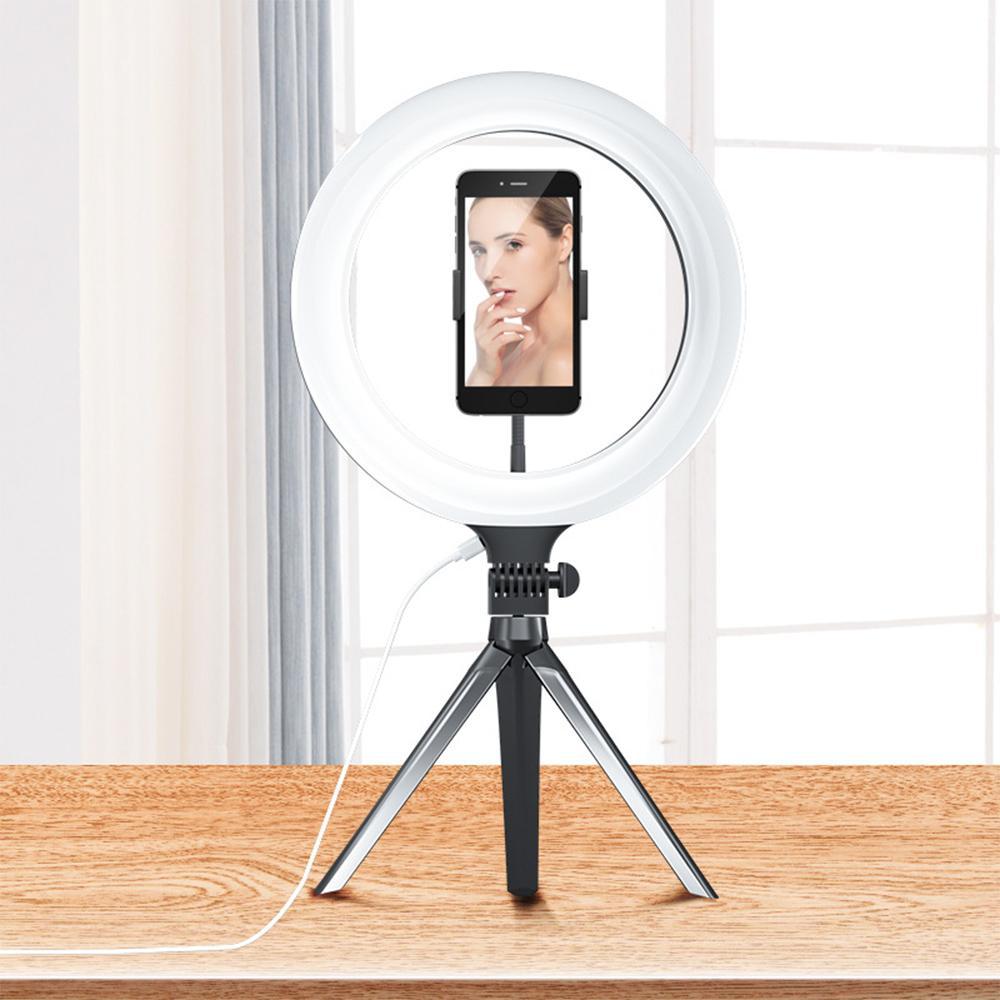 10-дюймовый LED Ring Light 3 Light Режимы с треногой сотового телефона владелец, камера студия заполняющего света для Live Stream, макияжа, видео YouTube
