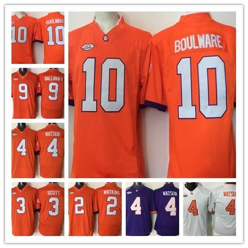 sports shoes 7345b f453a Youth Clemson Tigers 4 DeShaun Watson Orange White Purple Color Kids  College Football Stitched Jerseys Embroidery Logos Free Drop Shipping UK  2019 ...