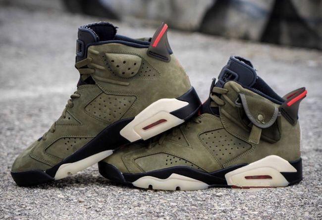 2019 Nuevo 6 Mediano Verde oliva baja hombre zapatos de baloncesto 6s VI zapatillas deportivas deportivas al aire libre con un tamaño de caja de calidad superior 8-13