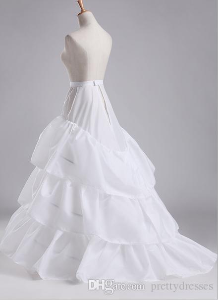 2019 billig kostenlose größe weiß bridal crinoline chapel eigentümer brautkleid petticoat a-line frauen untersrock