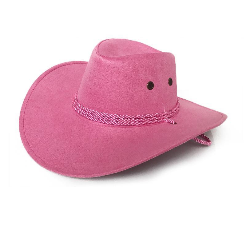 Moda New Western Cowboy Fedora Chapéus Handmade Decor Belt Homens Mulheres rolo Brim Jazz Carnival Trilby Hat para Unisex