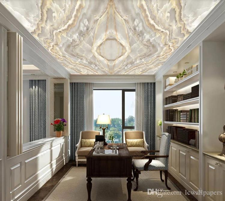 3D personalizado gran mural palacio de mármol de lujo de estilo de techo de estar Sala de Estudio mural de la pared de papel 3D decoración del hogar