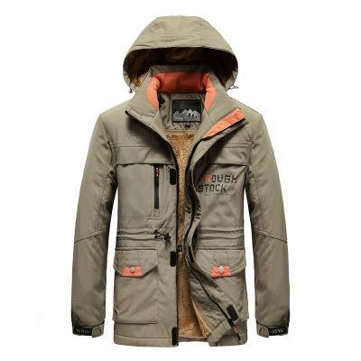 Mens Winter Sports Brand Jacket Multi-pocket Military Windbreak Coats Designer Warm Tactical Jacket Hot Selling 2020 Plus Size