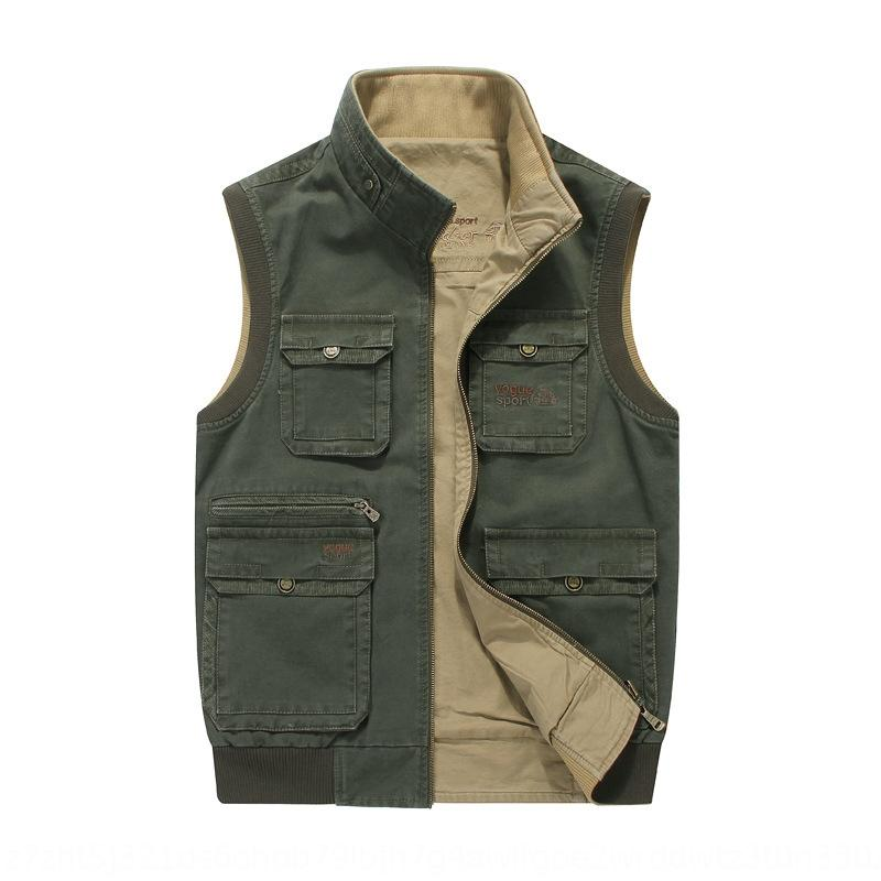 7uX25 Jeep chariot men's casual outdoor cotton multi-pocket 8586 Jeep chariot waistcoat men's casual vest outdoor cotton waistcoat multi-poc
