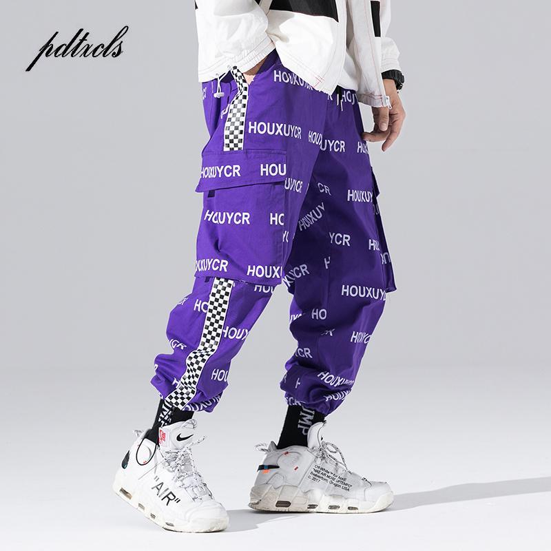 Nouvelle arrivée Harajuku Lettre de style japonais Imprimé Pantalon hommes à la mode Hip Hop Jogger Pantalons Automne Casual Male Harem T200323