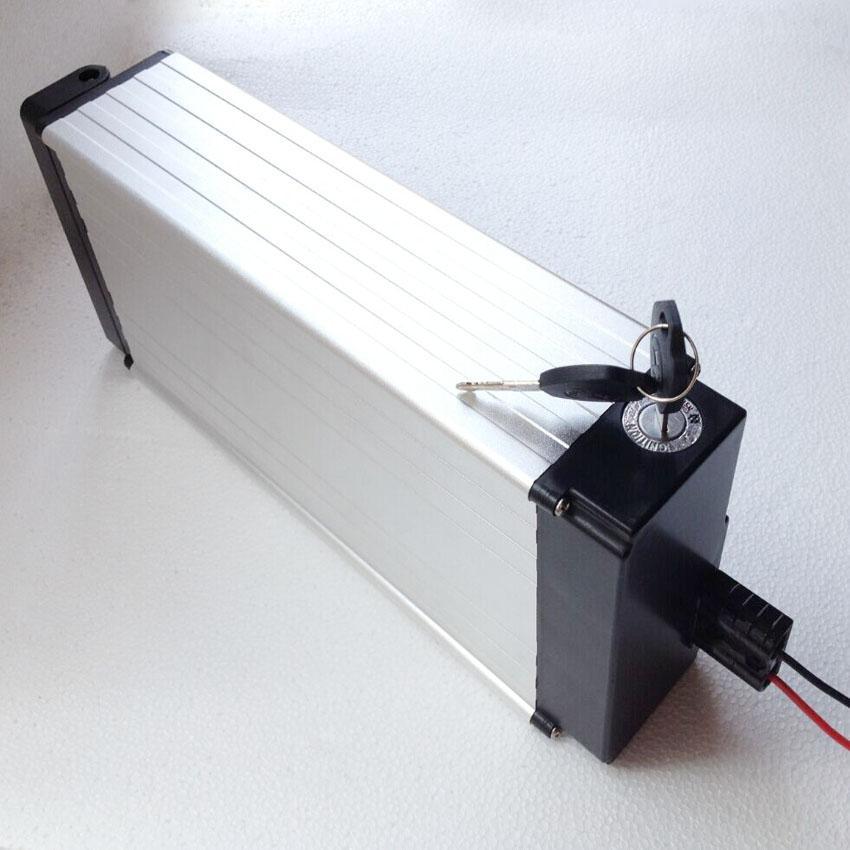 СВОБОДНЫЙ Shpping высокой емкости Электрический велосипед батареи 48V 20Ah литий 1000W / задняя стойка с BMS 54.6V 2A зарядное устройство
