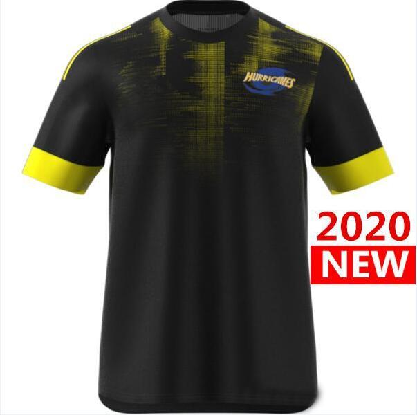 2020 Hurricanes Primeblue Super Rugby Jersey New Zealand Camisa Camisa de Rugby Jerseys Hurricane Performance Tee Singlet s-5xl