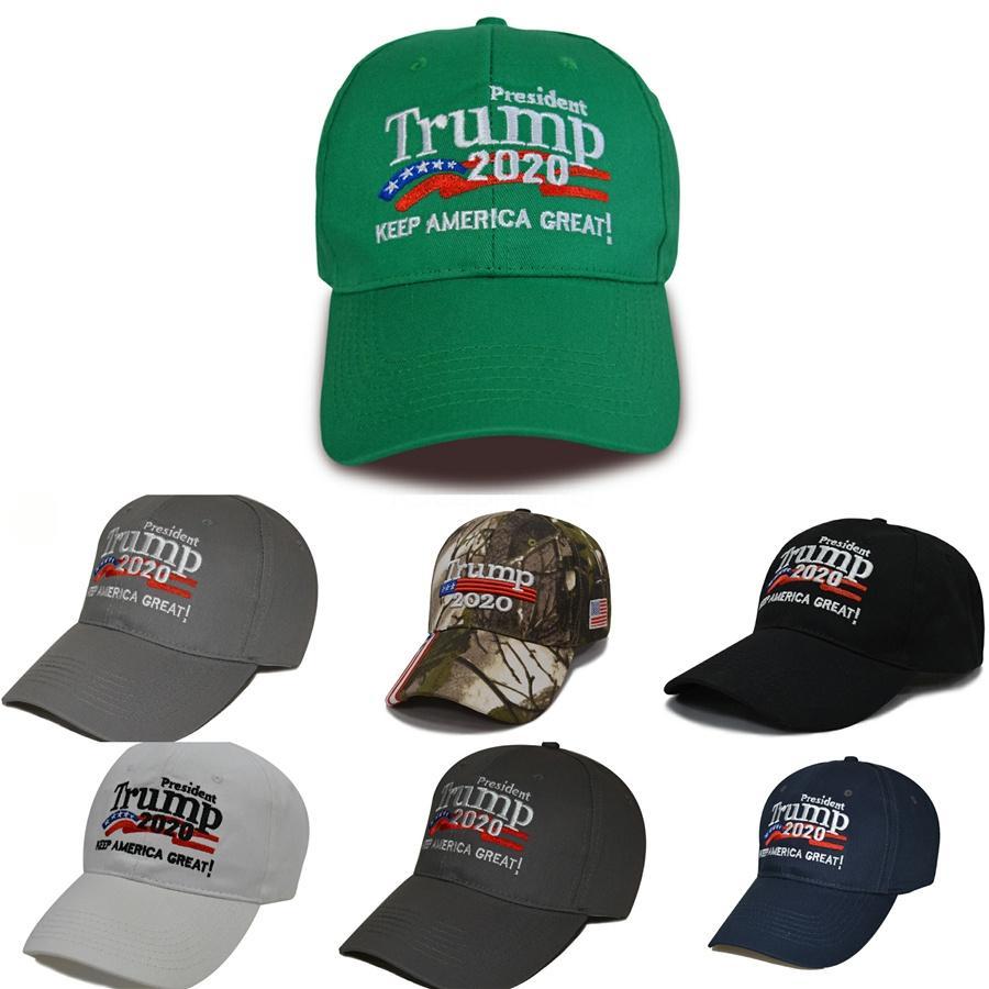 Trump 2020 Kamuflaj Beyzbol şapkası Açık Nakış Amerika Büyük Şapka Spor Cap Yıldız Abd Bayrağı Cap Snapback Ljja3687-6 # 712 tutun