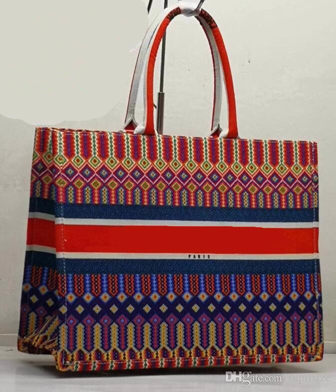 Tuval deri yüksek kaliteli ünlü markalar tasarımcı lüks moda bayan casual tote omuz çantaları kadın çanta sıcak satış