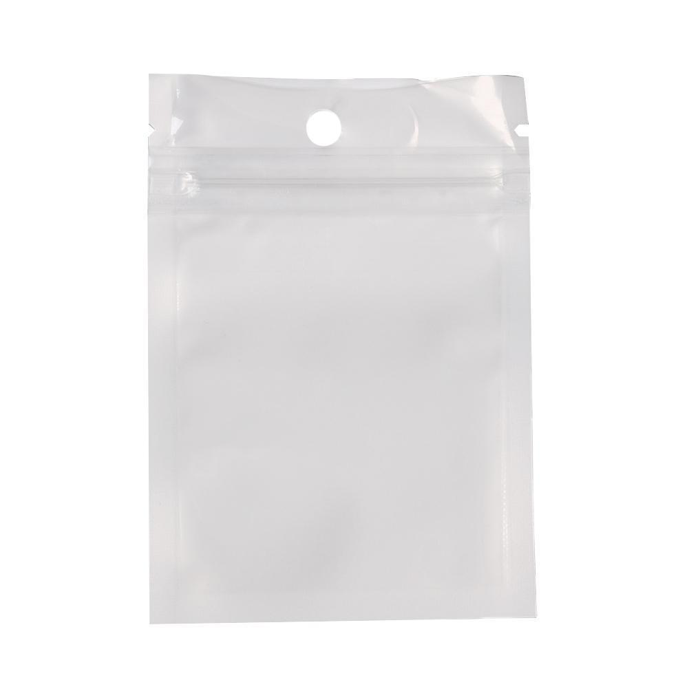 Portable Poly Pack With Hanging Hole Storage Bag Ziplock Jewelry Store Retail Packaging Durable Self Seal