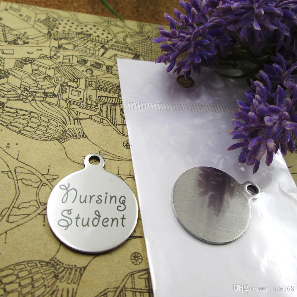 """40pcs--""""Nursing Student""""stainless steel charms more style for choosing DIY Charms pendants for necklace"""