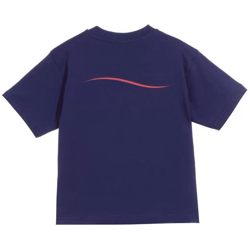 Art und Weise scherzt Polo-T-Shirt mit kurzen Ärmeln Kinder gewellten Streifen-Baby-T-Shirt Junge Tops Kleidung Brief Drucken Tee Mädchen Baumwoll-T-Shirts