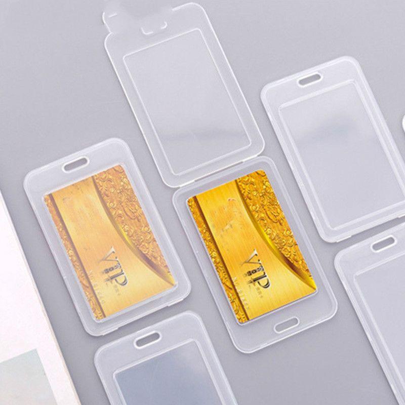 Espesar titular de la tarjeta impermeable de PVC transparente tarjeta de plástico de la cubierta del caso para proteger las tarjetas de crédito del Banco de tarjetas de identificación de la manga
