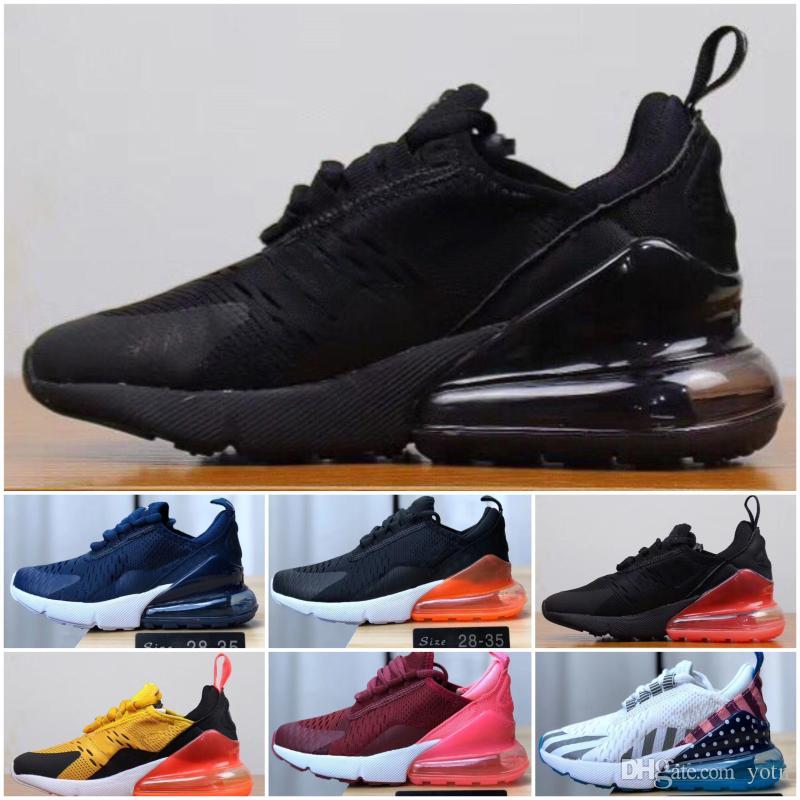 Nike air max 270 Poco costoso del bambino bambini bambini Athletic Shoes Ragazzi che funzionano Pattini delle ragazze dei pattini casuali del bambino Formazione scarpe da tennis