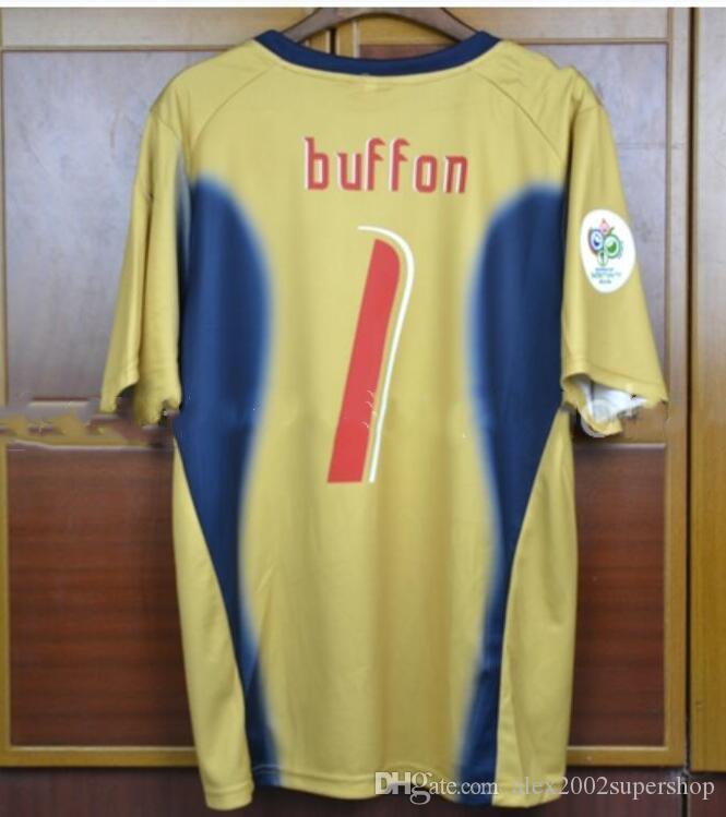 2006, a Itália de Futebol Retro Jersey casa longe goleiro Buffon Cannavaro Totti Del Piero Inzaghi Pirlo Materazzi Gattuso Italia camisas de futebol