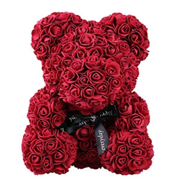 روز تيدي بير متعدد الألوان الزهور الاصطناعية روز الدب رغوة صديقة عيد الحب هدية عيد ميلاد الحزب الديكور