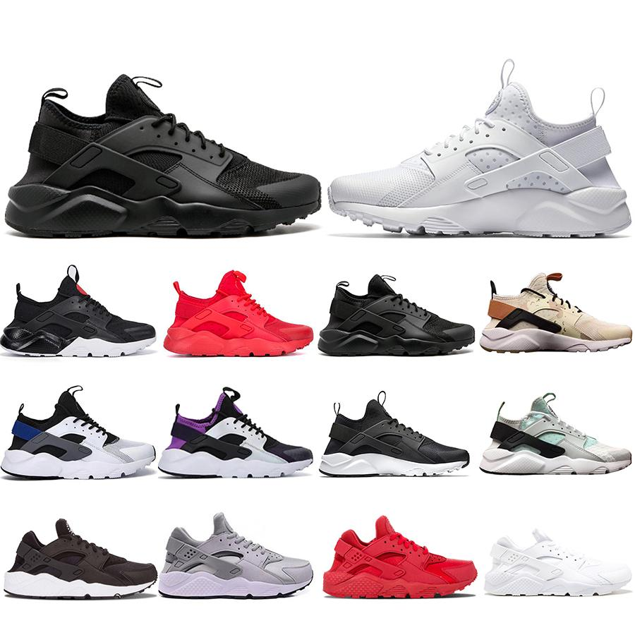 2020Top Mode Ultra Huarache Hurache Chaussures de course pour les hommes seuls Triple Blanc Noir sport Huaraches Sneakers Harache chaussures de marque pour hommes
