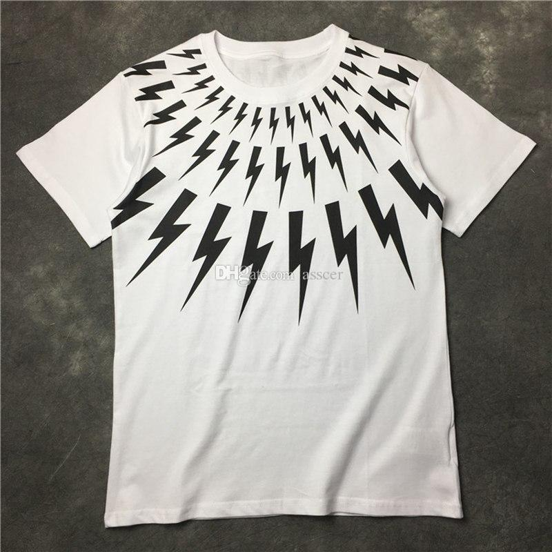 Mens T Shirt Casual manga curta Moda Preto Branco de alta qualidade Homens Mulheres Hip Hop Tees Tamanho S-XL