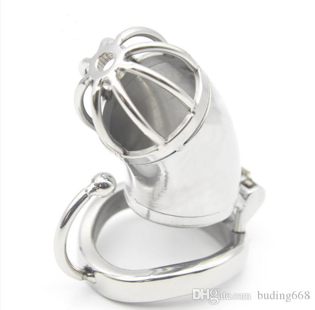 2020 Male chastity stainless steel ball stretcher sex ring for men male chastity device chastity cage H778