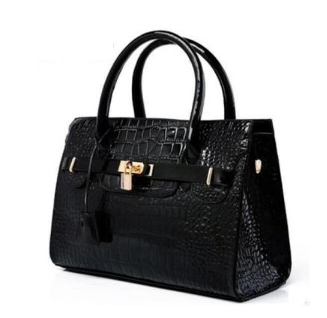 2020 New Fashion Women's Handbag bag Purses PU Leather fashion Shoulder Bags lock Crocodile Handbag bag Messenger Bag