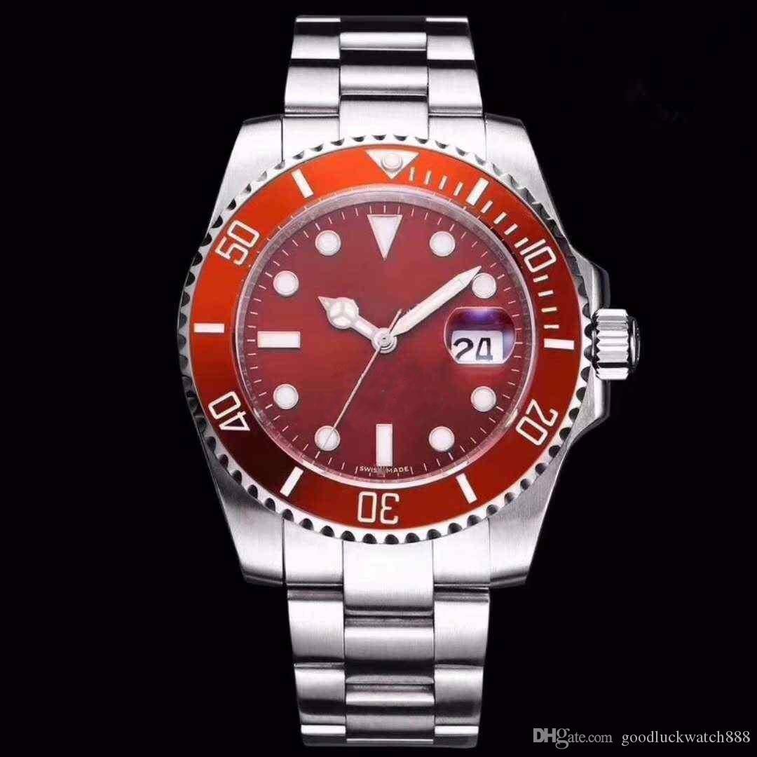 Hot vente série submersible 116610 montre automatique anneau en céramique mécanique en acier inoxydable de 40 mm différentes couleurs vous permettent de choisir la montre
