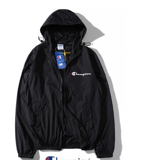 Brand Designer Men пальто куртки Солнцезащитный Повседневная Мужская одежда Куртки Топы с Letter Printed отворотом капюшоном Black Ветровка Streetwear