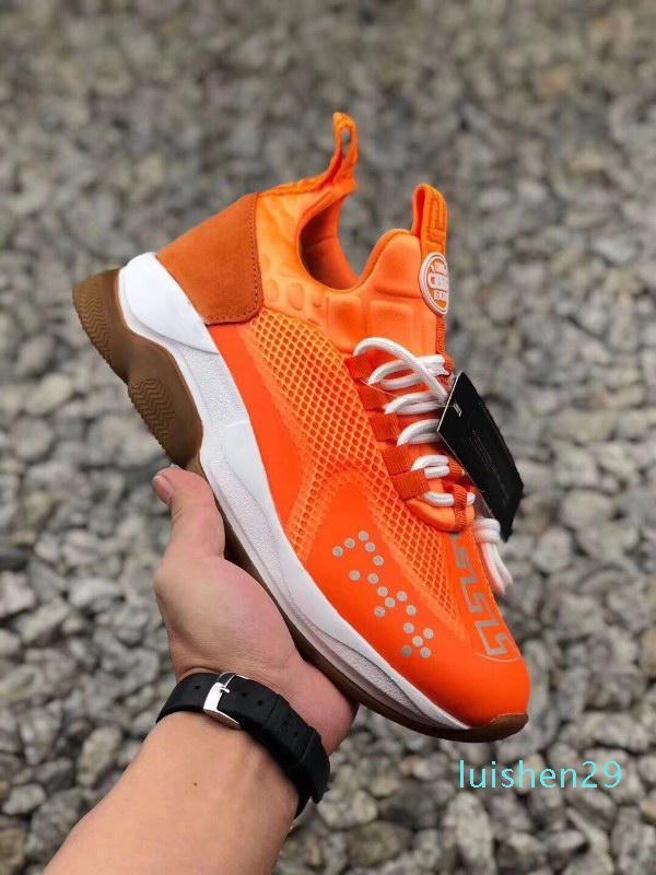 2020 heiß neu Chaussures Chain Reaction Platform Modedesigner All Star Leder Freizeitschuh Kreuz Chainer Sneaker Sneaker Baskets L29