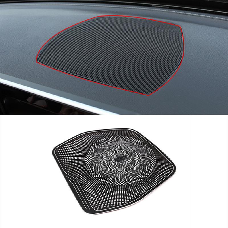 Black Car Dashboard Audio Speaker Decoration Sticker Trim For Mercedes Benz W205 X253 C Class GLC 2015-2018 Interior Modified