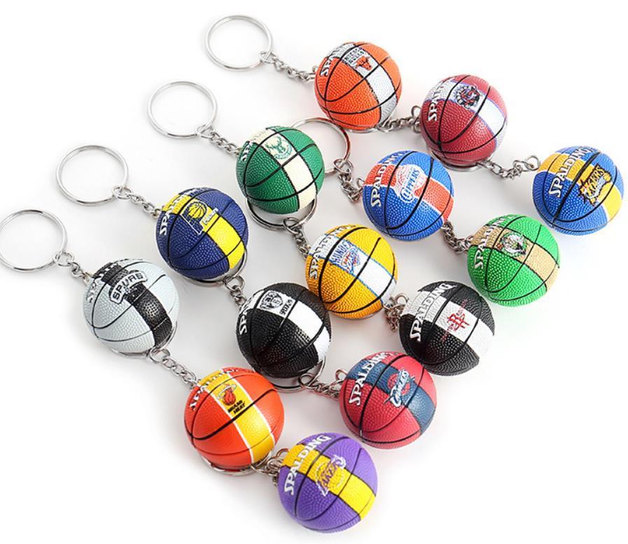 Basket-ball porte-clés clé de Stylisme de basket-ball de l'équipe de la chaîne Pendentif voiture Creative cadeaux pour les amateurs de sport Promotion cadeau