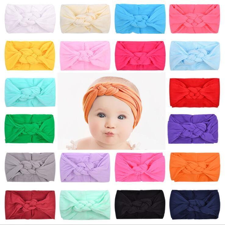 아기 머리띠 어린이 20 색 탄성 머리띠 중국어 매듭 파티 헤어 액세서리 헤어 밴드 모자 무료 배송