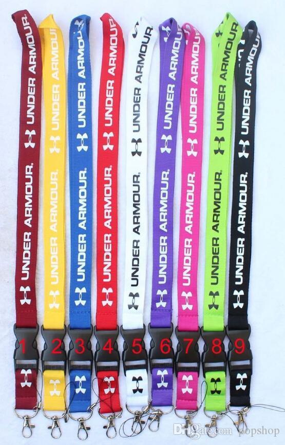 100PCS CellPhone Cordino Cordini Abbigliamento marca Portachiavi Telefono Chiavi Fotocamera ID Badge Holder Fibbia staccabile Bianco Nero ROSA cordini rossi