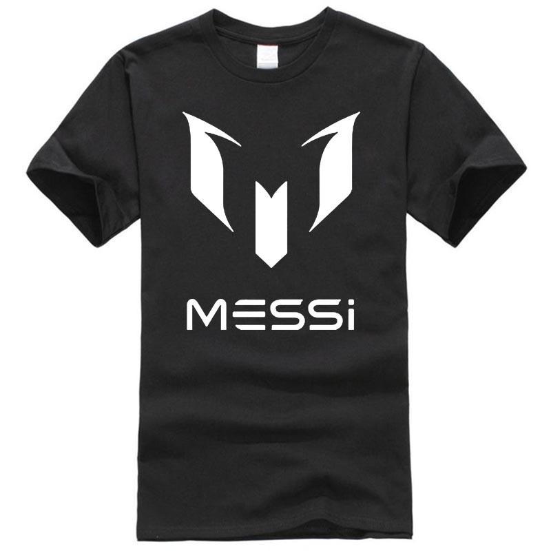 2017 marca el verano 100% algodón de Barcelona MESSI Hombres camiseta tops hombre de manga corta casuales camisas talla XS M L XL XXL