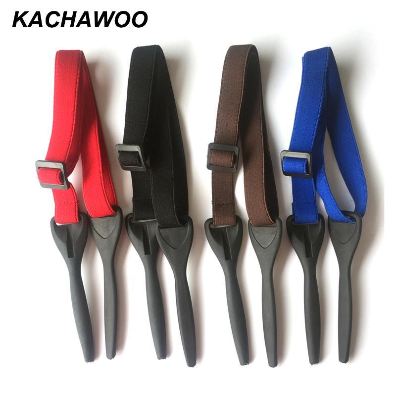 Kachawoo elastici regolabili per occhiali maschio nero blu rosso poliestere gomma uomini occhiali sportivi stringa catena cavo