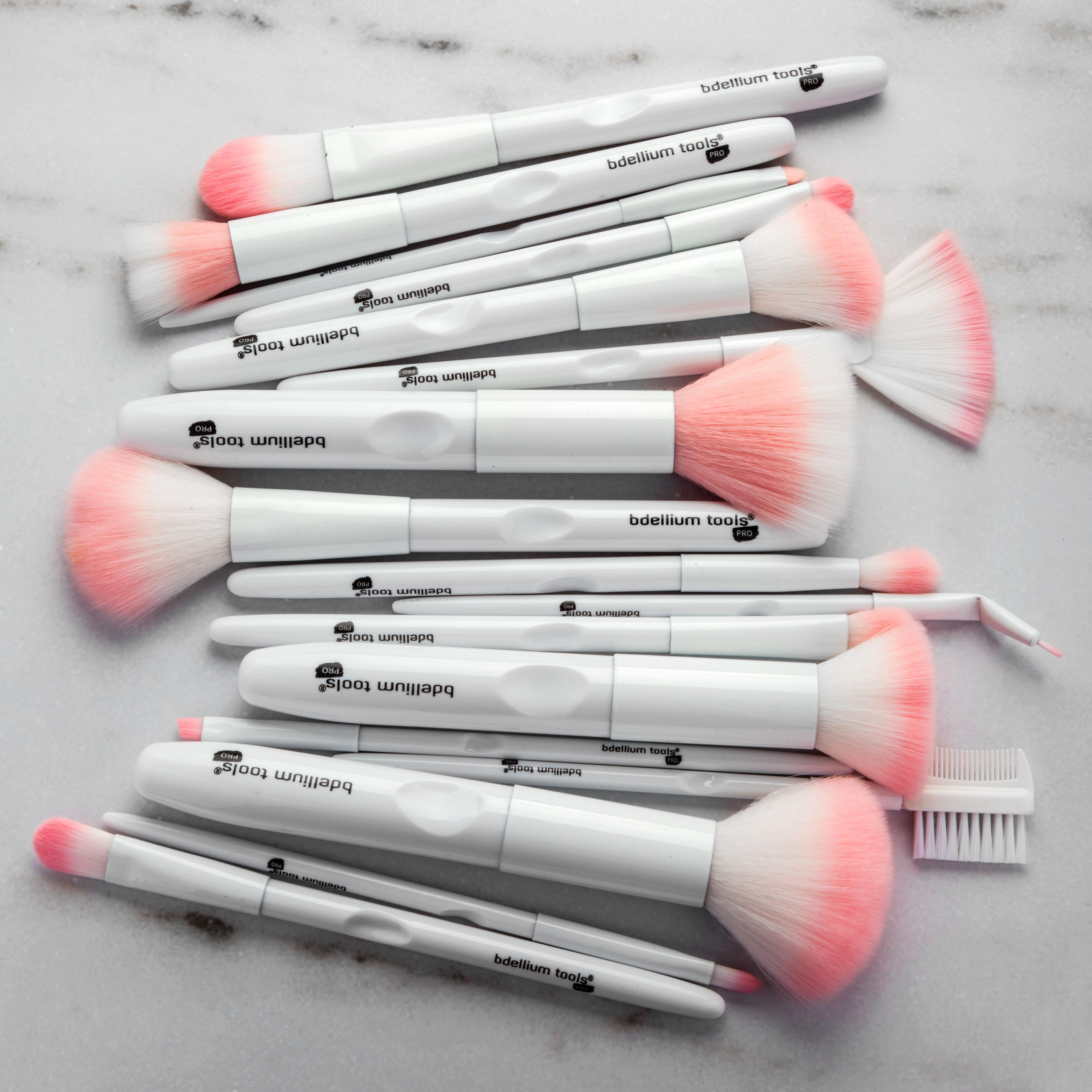Fırça Seti yukarı 17pcs Beyaz Makyaj Fırçalar Seti Pudra Fondöten Allık Fırçası Dudak Göz Farı Kaş Eyeliner Fırçası Komple Kozmetik Makyaj